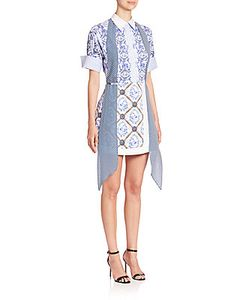 Mary Katrantzou | Hayward Print Tie-Neck Dress
