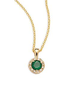 Effy | Emerald Diamond 14k Pendant Necklace