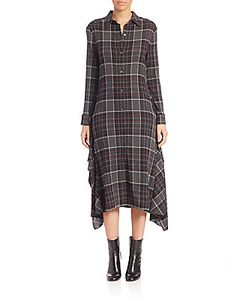 Public School | Alice Plaid Shirtdress