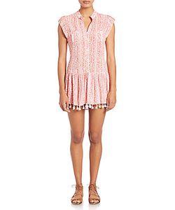Poupette St Barth | Heni Mini Fringe Hem Dress