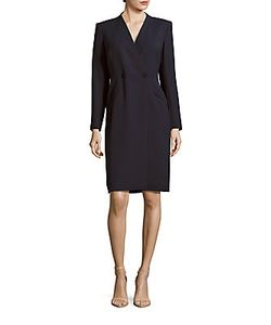 Lafayette 148 New York   Nataline Double-Breasted Coat Dress