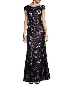 Vera Wang | Sequined Rose Gown