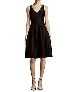 J. Mendel   Solid Fit-And-Flare Dress