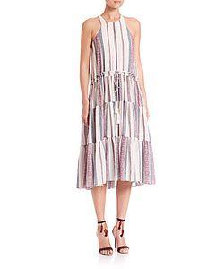 Derek Lam 10 Crosby   Printed Tiered Midi Dress