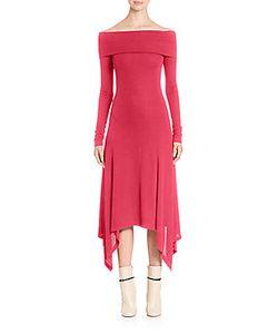 Derek Lam | Solid Off-The-Shoulder Dress