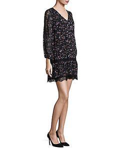 Joie | Auggie Ikat Lace Inset Dress