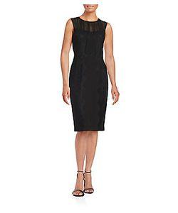 Vera Wang | Lace Overlay Sheath Dress