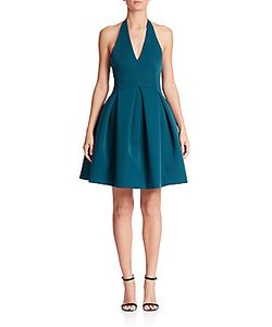 Halston Heritage | Matte Satin Halter Dress