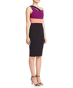 Roland Mouret | Latymer One-Shoulder Colorblock Dress