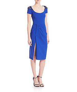 Marchesa | Embellished Draped Dress