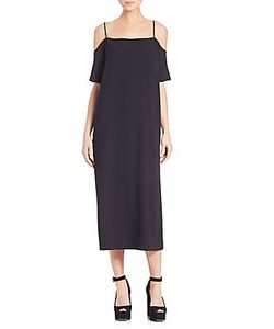 Alexander Wang | Poly Crepe Off-The Shoulder Dress