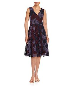 Vera Wang | Crochet A-Line Dress