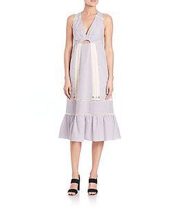 Thakoon | Cotton Crochet-Inset Dress