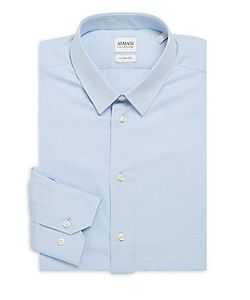 Armani Collezioni | Slim-Fit Textu Dress Shirt