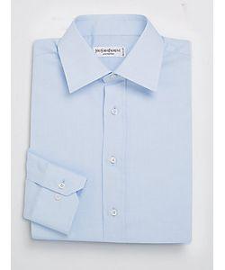 Saint Laurent | Solid Cotton Textu Dress Shirt