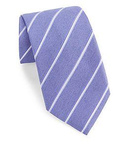 John Varvatos | Striped Silk-Blend Tie
