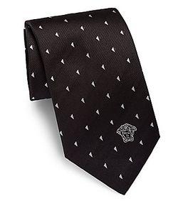 Versace | Geometric Silk Tie
