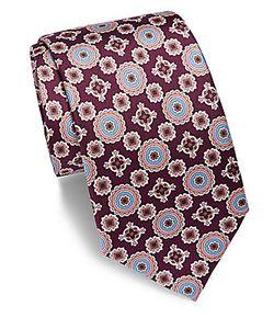 Saks Fifth Avenue | Printed Silk Tie