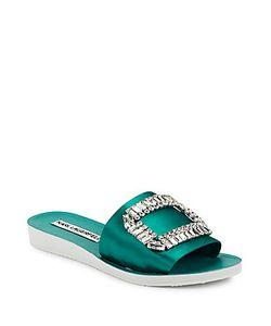 Karl Lagerfeld | Mirah Embellished Slip-On Sandals