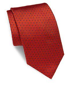 Brioni | Textured-Motif Silk Tie