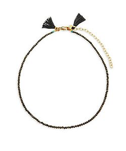 Shashi | Lola 18k Plated Beaded Choker Necklace