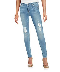 7 For All Mankind | Gwenevere Distressed Skinny Jeans