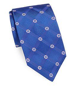Brioni | Embroidered Textured Silk Tie