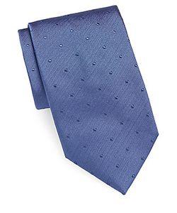 Brioni | Textured Dot Embroidered Silk Tie