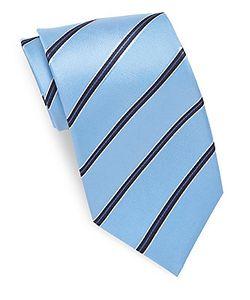 Saks Fifth Avenue | Striped Pure Silk Tie