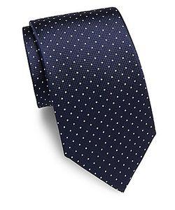 Saint Laurent   Dot-Print Silk Tie