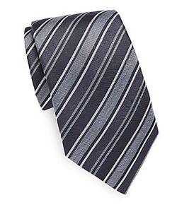 John Varvatos | Striped Silk Tie