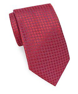 John Varvatos | Patterned Italian Silk-Blend Tie