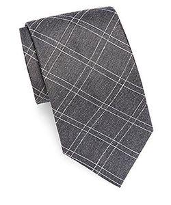 John Varvatos | Textured Silk-Blend Tie
