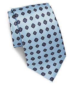 Brioni   Geometric Printed Silk Tie