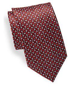 Brioni | Geometric Printed Silk Tie