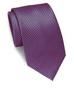 Brioni | Mini Checked Silk Tie