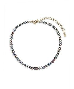 Kenneth Jay Lane | 3mm Round Pearl Strand Choker Necklace