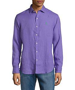 Polo Ralph Lauren   Solid Classic-Fit Linen Shirt
