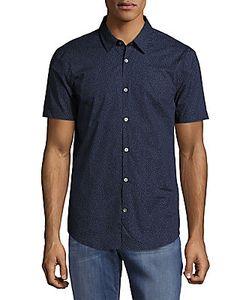 John Varvatos | Dot-Print Casual Button-Down Cotton Shirt