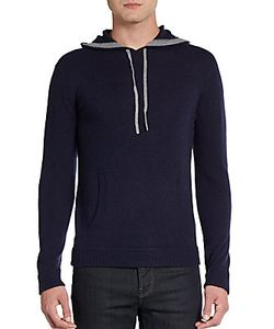 Saks Fifth Avenue BLUE | Cashmere Pullover Hoodie