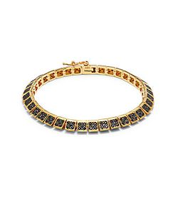Noir | Cubic Zirconia 18k Plated Bangle Bracelet