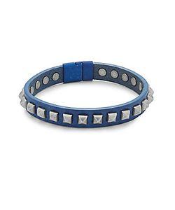 Tateossian | Leather Pyramid Bracelet