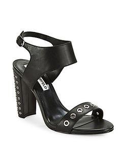 Karl Lagerfeld | Leola Grommet-Accented Sandals