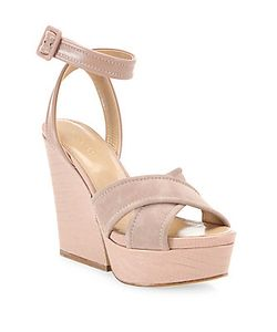 Sergio Rossi | Hannelore Suede Leather Wedge Sandals