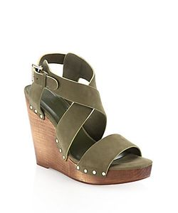 Joie | Cecilia Suede Crisscross Wedge Sandals
