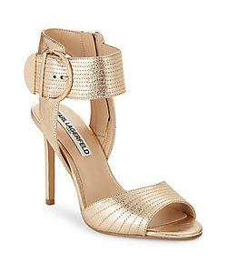 Karl Lagerfeld | Lyra Buckled Stiletto Sandals