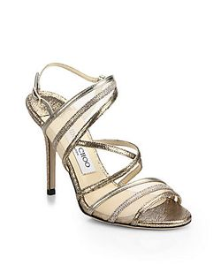 Jimmy Choo | Visby Leather Mesh Sandals