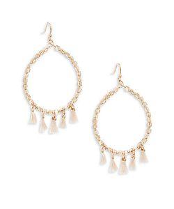 Saks Fifth Avenue | Beaded Hoop Earrings/1.25
