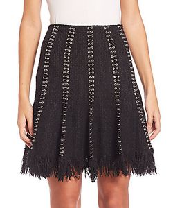 Alexander Wang | Fringed Wool Skirt