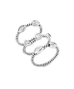 Saks Fifth Avenue | Studded Spiral Stackable Rings